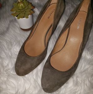 COACH Suede Lidia Wedge Shoes